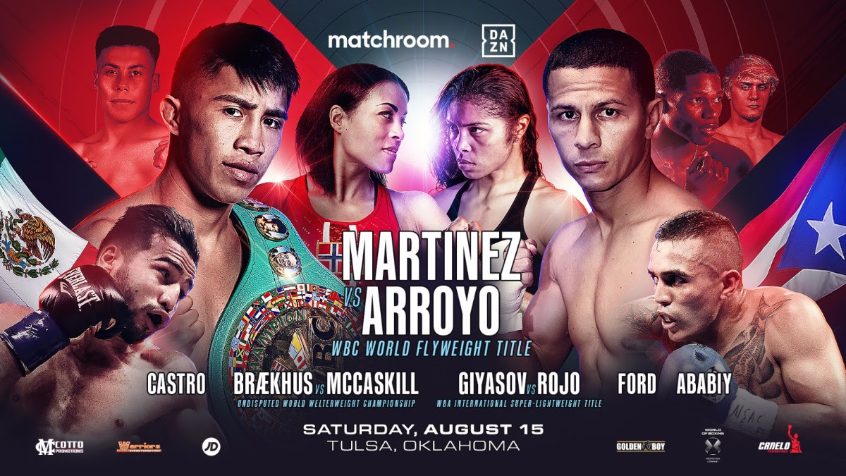August 15 on DAZN: Julio Cesar Martinez vs. McWilliams Arroyo